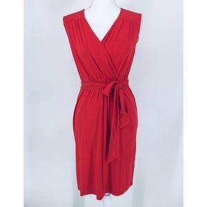 Philosophy Dark Coral Red Jersey Knit Dress